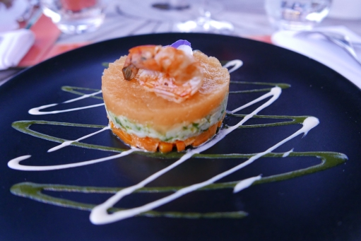 Set menu seafood starter